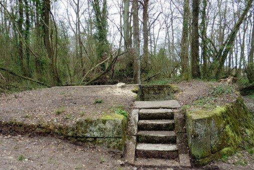 Site de la Fontaine Bondrée le 20 mars 2017 après restauration